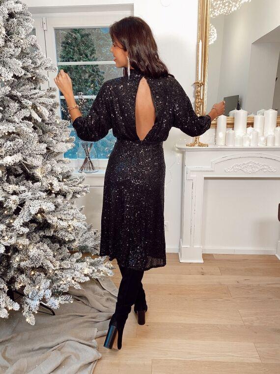 Long sequin dress JOIE in black