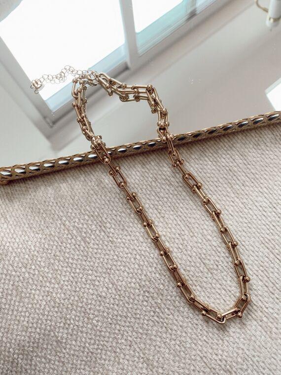 Chain necklace SUERTE in gold