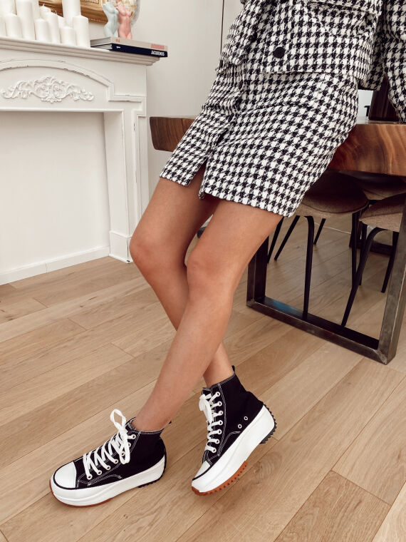Chunky sneakers SAND in black
