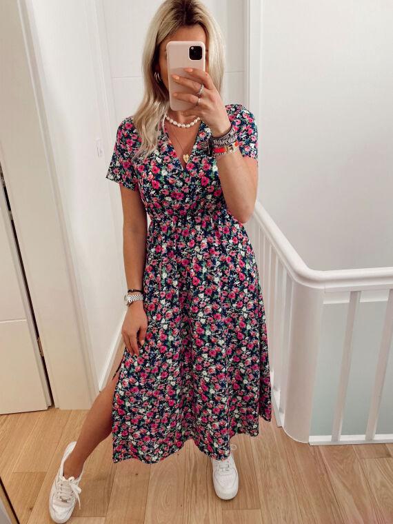 Long floral print dress TAYLOR