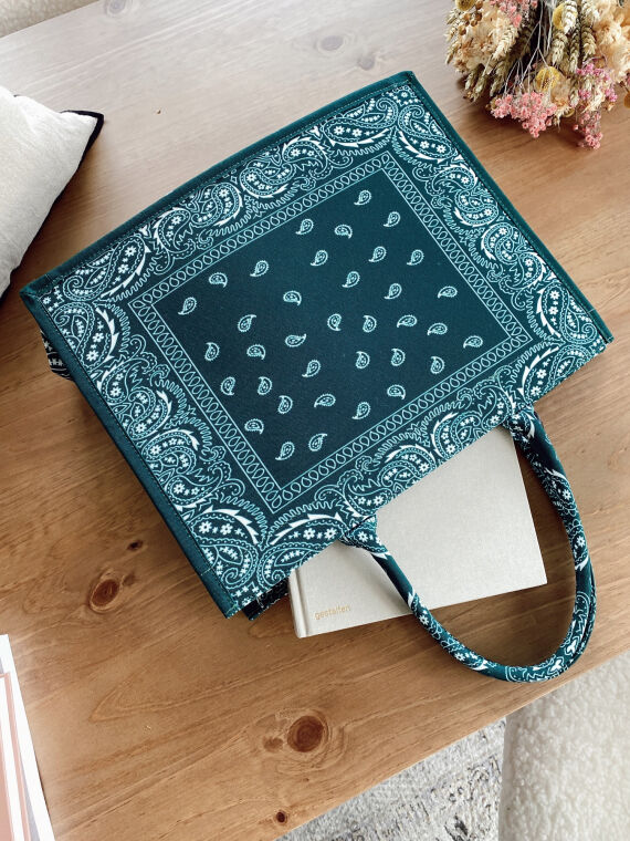 Shopper bag BANDANA in green