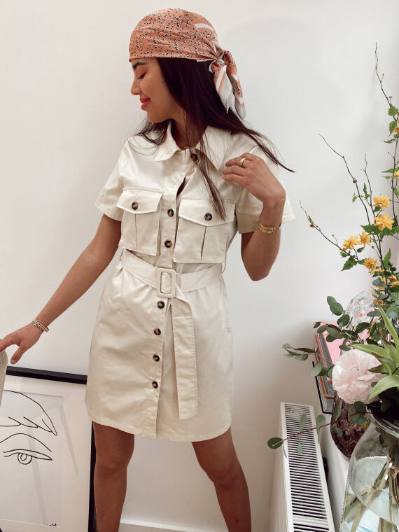 Cargo dress NATASIA in beige