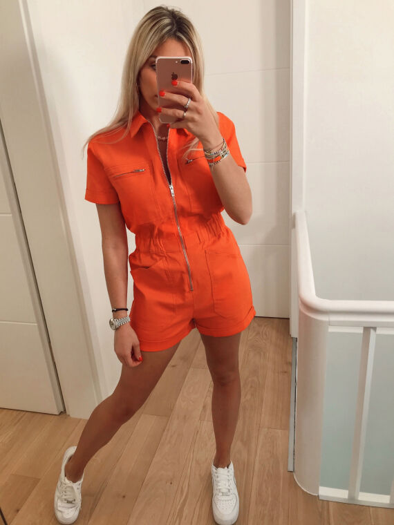 Fireman jumpsuit NICKY in coral