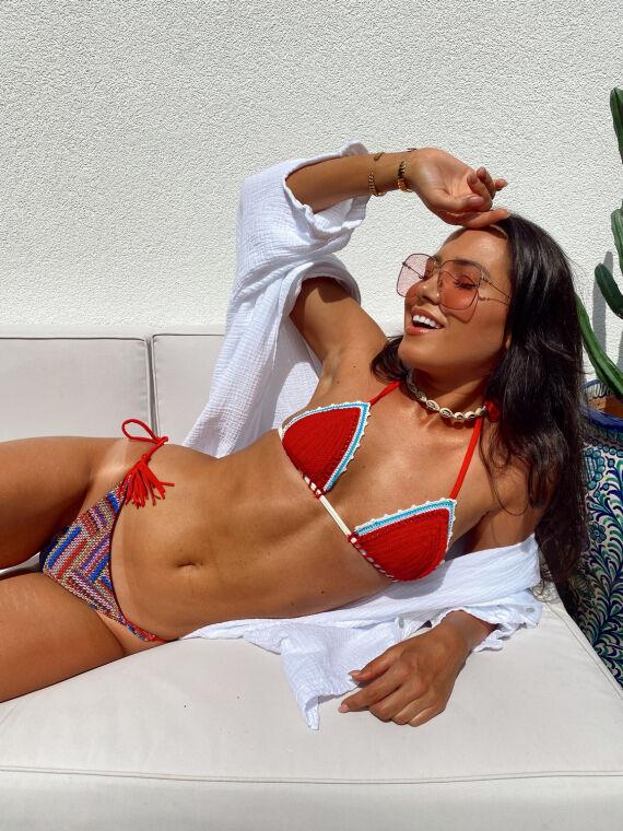 Bikini en crochet HANTAS rouge