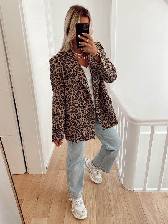 Blazer oversize léopard JANONE beige
