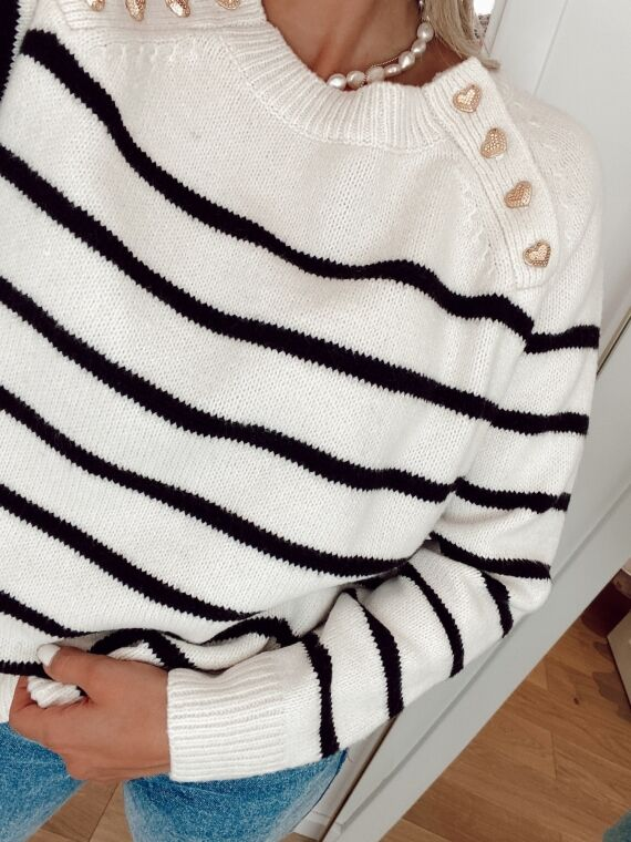 Sailor's sweater with golden buttons DESIRE