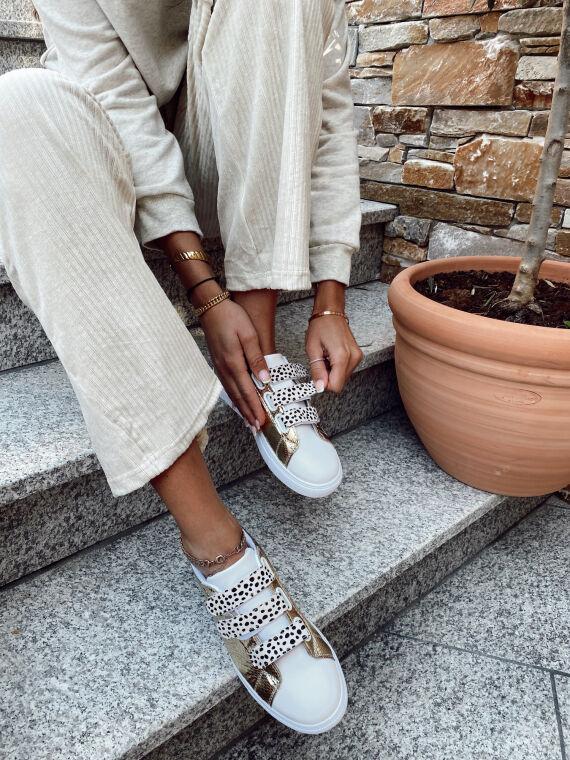 REVOLT leopard print sneakers