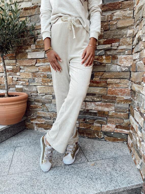 Pantalon en velours côtelé MARKO beige