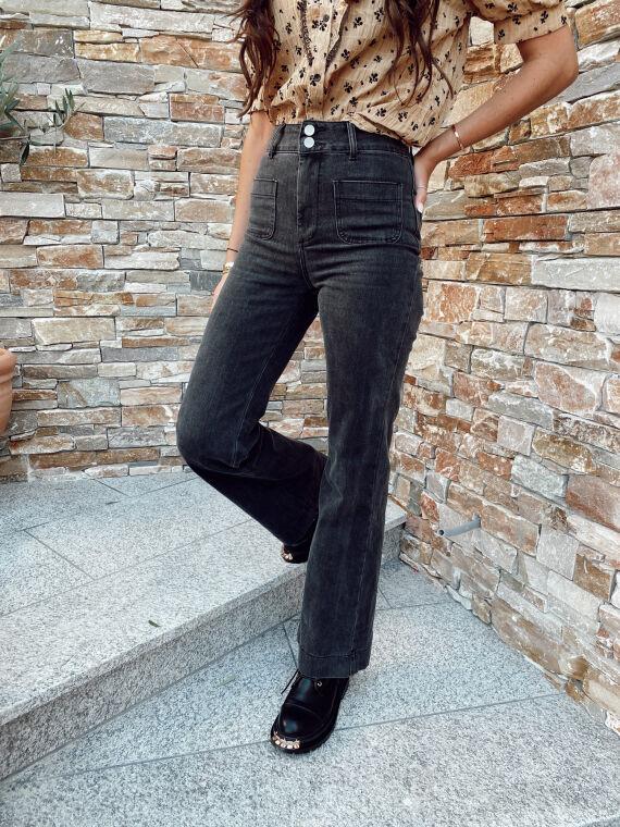 Jeans évasé poches à l'avant BARTOLO anthracite