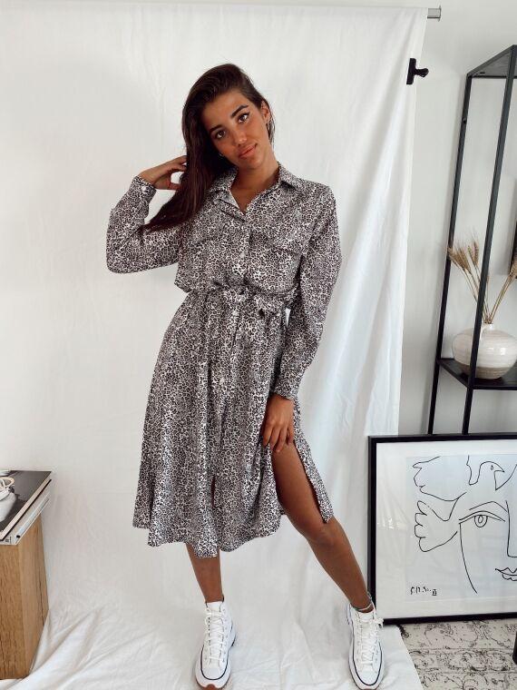 Leopard POESIE Long Dress