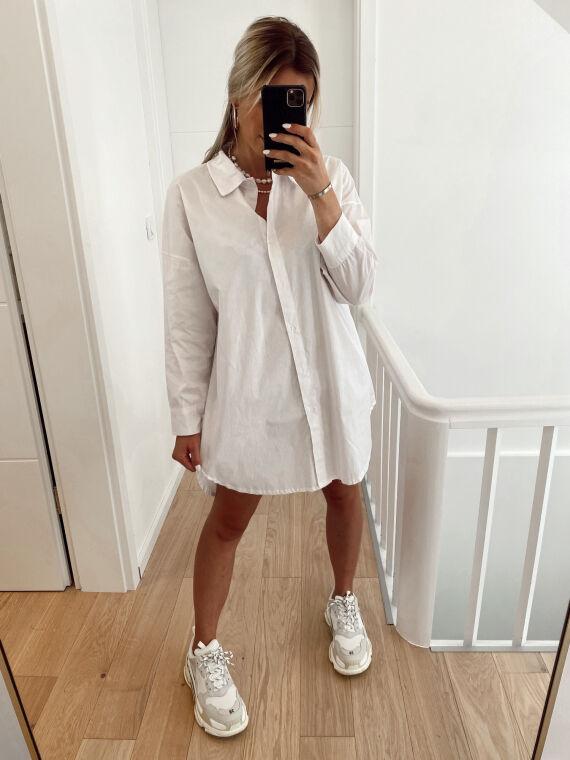 Shirt dress BELINI in white