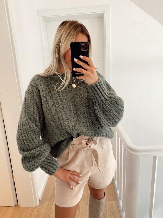 Knitted jumper FORTUNATE in khaki