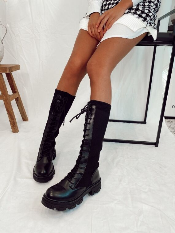 Bottes talon track style chaussettes ALABA