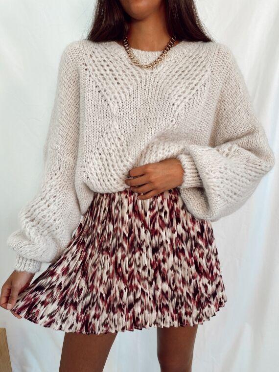 Printed pleated skirt SOMETIMES