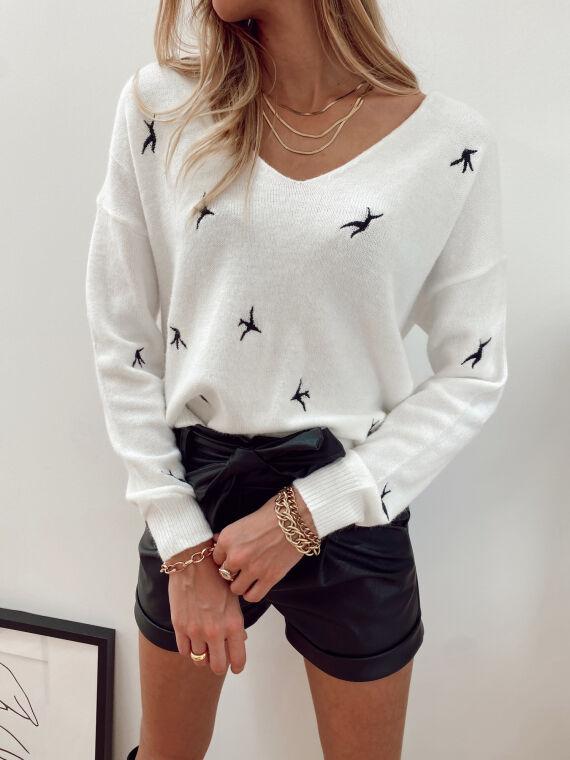 Soft jumper BIRDY in white