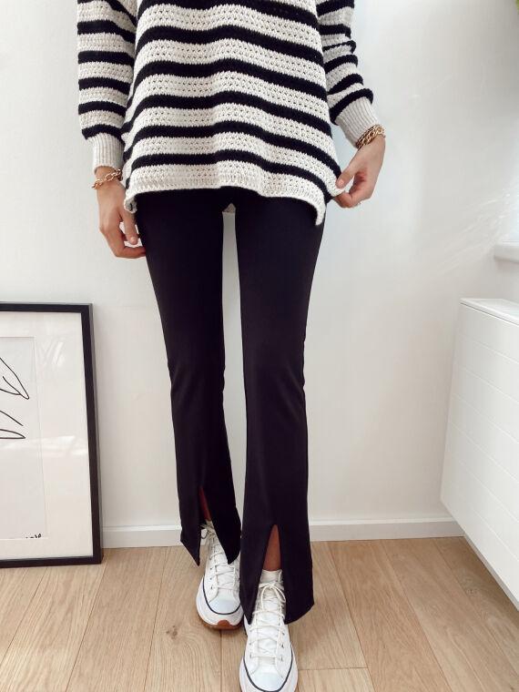 Legging with split front FERDI in black