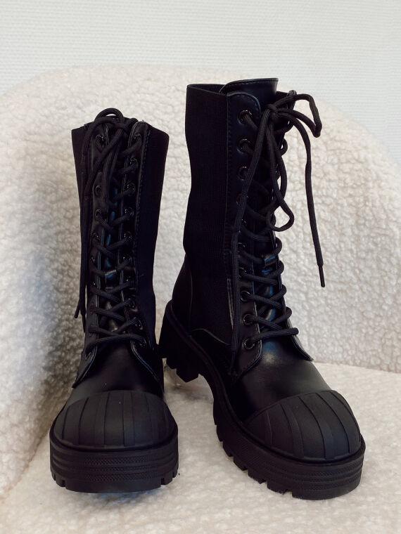 Bottines track style chaussettes TONINA noires