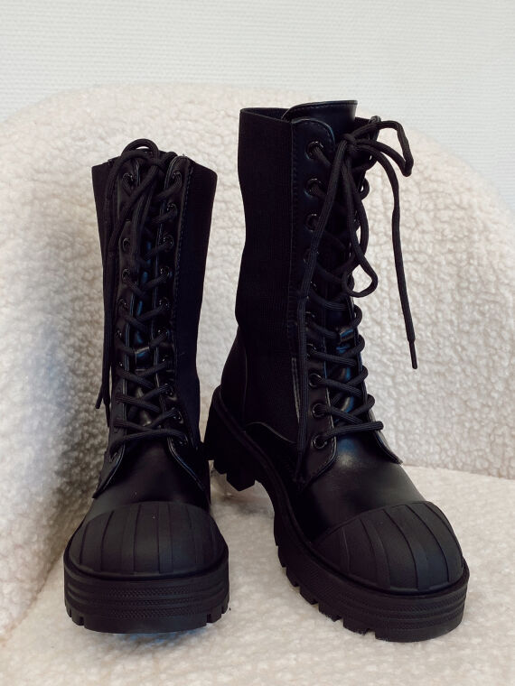 Sock style track boots TONINA in black