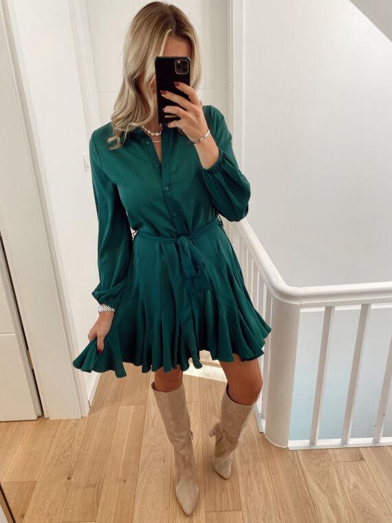 Skater shirt dress BADIOLE in green