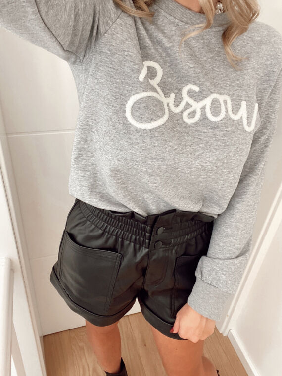 Sweatshirt BISOU in grey