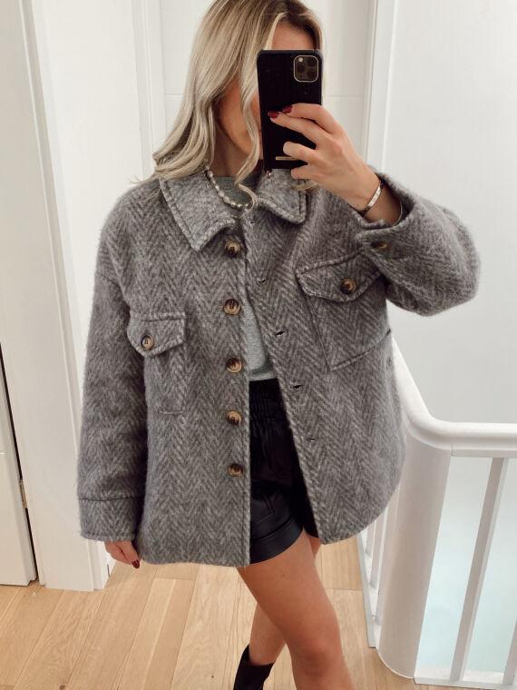 Felt wool jacket ZAMIA in grey