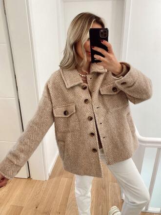 Felt wool jacket ZAMIA in beige