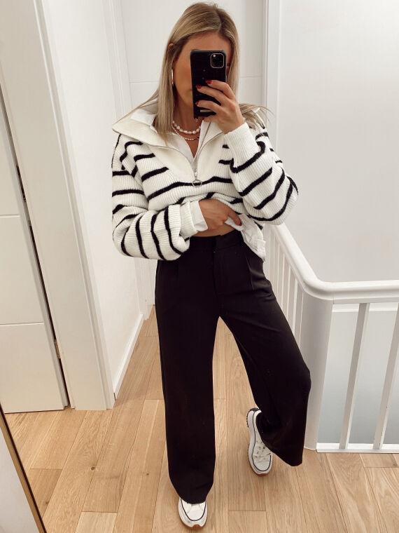 Pantalon de tailleur évasé XAVI noir