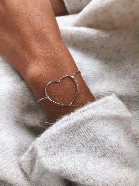 Bracelet COEUR in silver