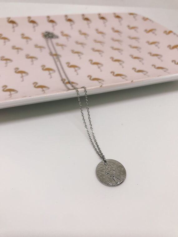 Aquarius necklace ASTRO in plated silver